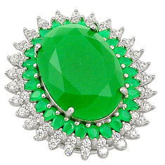 925 sterling silver green chalcedony topaz pendant jewelry c19032