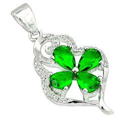 925 sterling silver green emerald quartz topaz pendant jewelry c22778