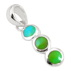 925 sterling silver green turquoise tibetan enamel pendant jewelry c22740