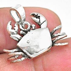 925 sterling silver 4.03gms indonesian bali style solid 3d crab pendant t6246