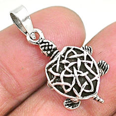 925 sterling silver 3.87gms indonesian bali style solid 3d turtle pendant t6298