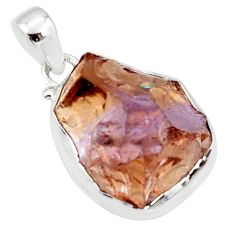925 sterling silver 22.02cts multi color ametrine rough pendant jewelry r51157