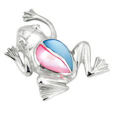 925 sterling silver multi color blister pearl enamel frog pendant a55380 c14653