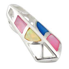 925 sterling silver multi color blister pearl enamel pendant a69736 c14626