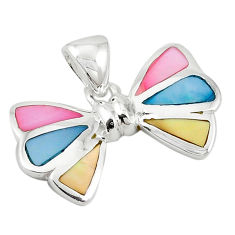 925 sterling silver multi color blister pearl enamel pendant a69800 c14579