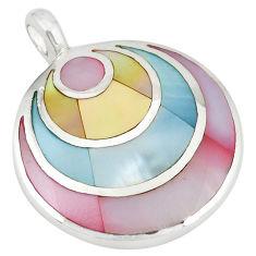 925 sterling silver multi color blister pearl enamel pendant a77590 c14605