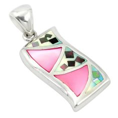 925 sterling silver multi color blister pearl enamel pendant a85457 c14438