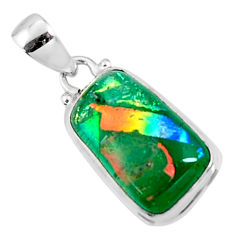 925 sterling silver 12.22cts multi color dichroic glass pendant jewelry r50920