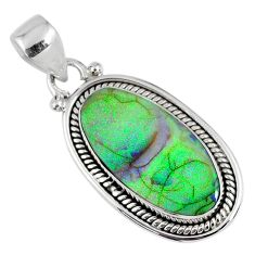 925 sterling silver 7.64cts multi color sterling opal oval pendant r58813