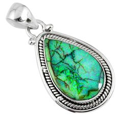 925 sterling silver 8.07cts multi color sterling opal pear shape pendant r58819
