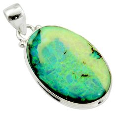 925 sterling silver 13.15cts multi color sterling opal pendant jewelry r25187