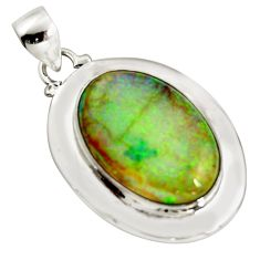 925 sterling silver 12.71cts multi color sterling opal pendant jewelry r25228