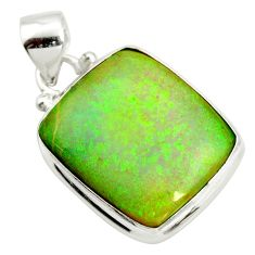 925 sterling silver 12.07cts multi color sterling opal pendant jewelry r25240
