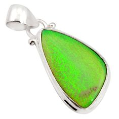 925 sterling silver 9.67cts multi color sterling opal pendant jewelry r25268