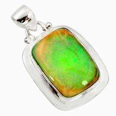 925 sterling silver 11.57cts multi color sterling opal pendant jewelry r25276