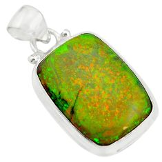 925 sterling silver 10.79cts multi color sterling opal pendant jewelry r25296