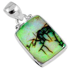 925 sterling silver 7.97cts multi color sterling opal pendant jewelry r58771