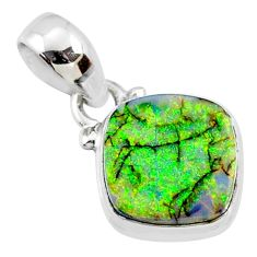 925 sterling silver 3.55cts multi color sterling opal pendant jewelry r64324