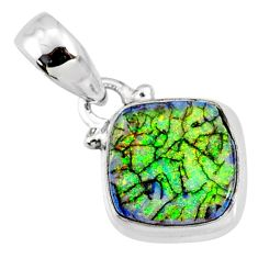 925 sterling silver 3.50cts multi color sterling opal pendant jewelry r64328