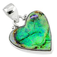 925 sterling silver 9.65cts multi color sterling opal pendant jewelry r70138