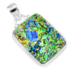 925 sterling silver 10.32cts multi color sterling opal handmade pendant r92597