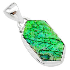 925 sterling silver 4.63cts multi color sterling opal pendant jewelry t13680