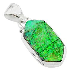 925 sterling silver 4.89cts multi color sterling opal pendant jewelry t13688