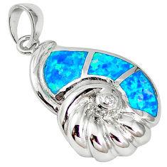 925 sterling silver natural australian opal (lab) topaz pendant a61336 c15216