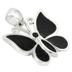 925 sterling silver natural black onyx enamel butterfly pendant a67760 c14869