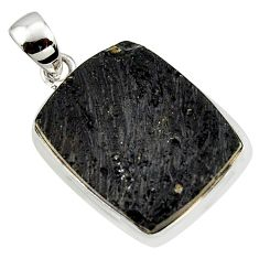 925 sterling silver 18.15cts natural black tektite pendant jewelry r41840