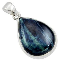 925 sterling silver 18.15cts natural black vivianite pendant jewelry r40009