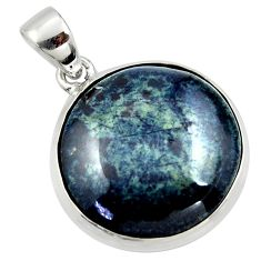 925 sterling silver 19.68cts natural black vivianite pendant jewelry r40012