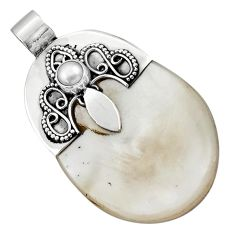 Clearance Sale- 925 sterling silver 41.66cts natural blister pearl pearl pendant jewelry d45534