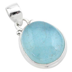 925 sterling silver 12.15cts natural blue aquamarine pendant jewelry t42771