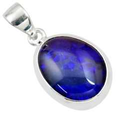925 sterling silver 10.32cts natural blue australian opal triplet pendant r36144