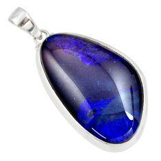 925 sterling silver 19.23cts natural blue australian opal triplet pendant r36194