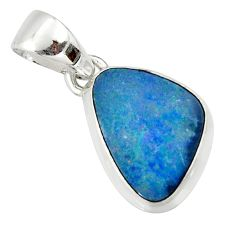 925 sterling silver 5.54cts natural blue doublet opal australian pendant r40044