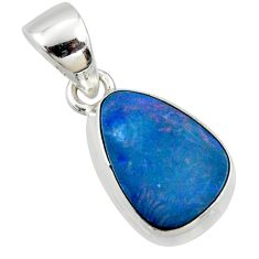 925 sterling silver 5.51cts natural blue doublet opal australian pendant r40054