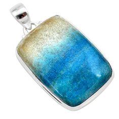 925 sterling silver 29.35cts natural blue dumorite (dumortierite) pendant t28643