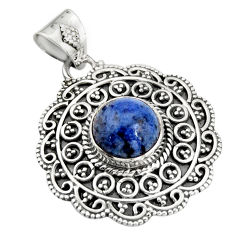 925 sterling silver 4.82cts natural blue dumortierite pendant jewelry r20256