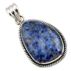 925 sterling silver 20.07cts natural blue dumortierite pendant jewelry r27993