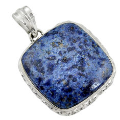 925 sterling silver 26.16cts natural blue dumortierite pendant jewelry r30585