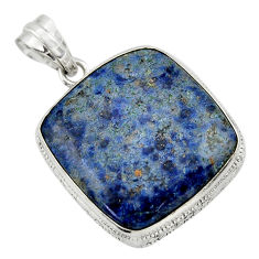 925 sterling silver 25.28cts natural blue dumortierite pendant jewelry r31884