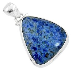 925 sterling silver 15.65cts natural blue dumortierite pendant jewelry r94744