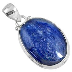925 sterling silver 19.07cts natural blue kyanite fancy pendant jewelry r56042