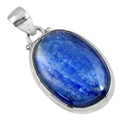 925 sterling silver 21.48cts natural blue kyanite pendant jewelry r56053
