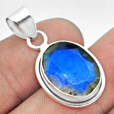 925 sterling silver 8.73cts natural blue labradorite pendant jewelry t53617