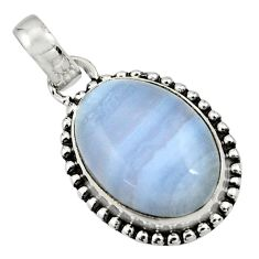 925 sterling silver 14.68cts natural blue lace agate pendant jewelry r26517