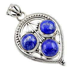 925 sterling silver 9.39cts natural blue lapis lazuli pendant jewelry r32390