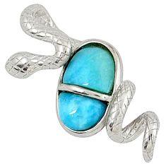 925 sterling silver natural blue larimar fancy snake pendant a32900 c15397